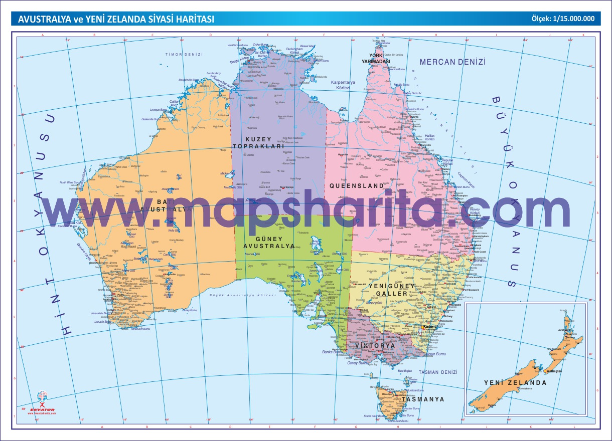 Avustralya siyasi haritası indir avustralya siyasi haritası
