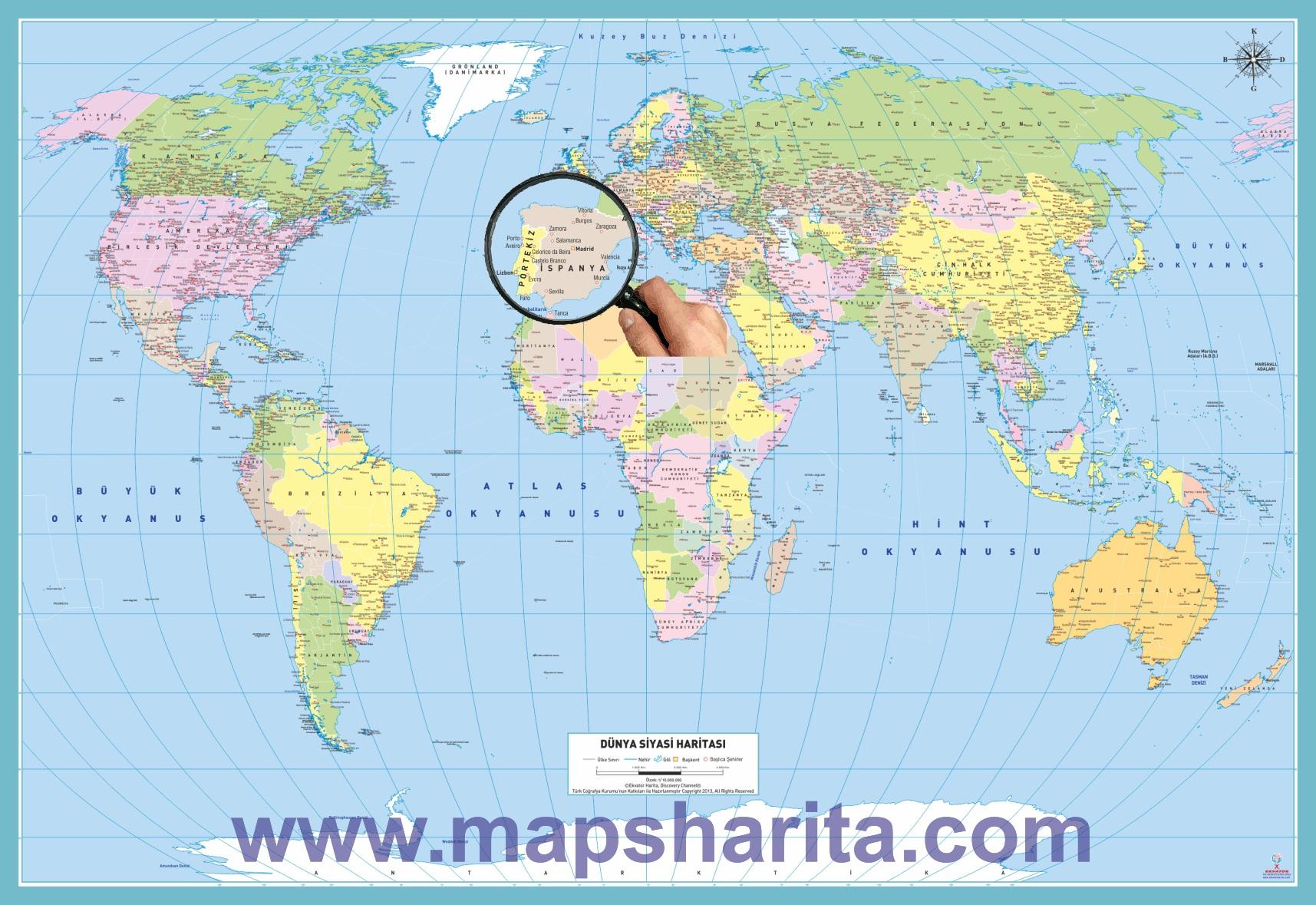 Dünya haritası baskısı nereden alınır dünya haritası